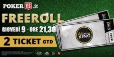 Stasera freeroll straordinario su PokerYes: in palio due ticket Sunday King 100.000€ grt e 100€ in bonus scommesse!