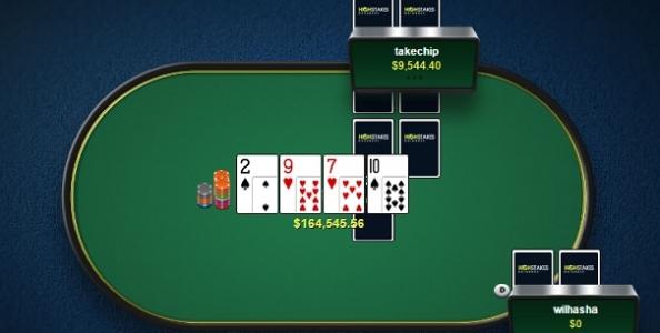 Brividi al cash High Stakes! 'wilhasha' e 'takechip' creano un pot da 164.546$ ma con il doppio river è split