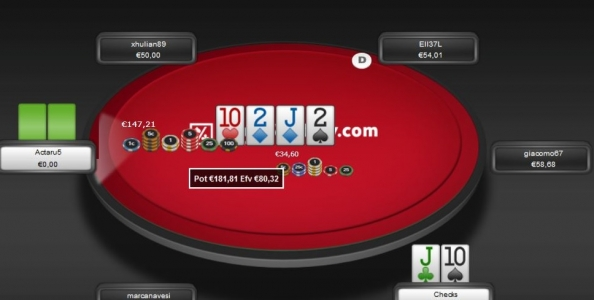 Punti di vista Cash Game (Zoom) – Top 2 pair con board che si paira turn: call o fold?