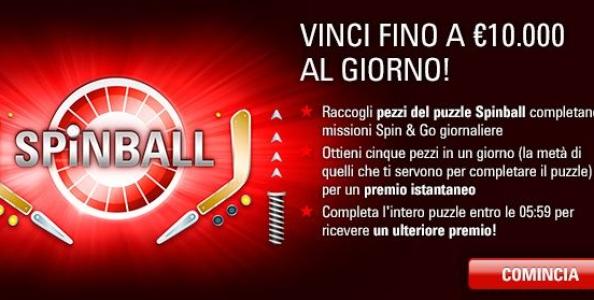 Spinball PokerStars – Completa il Flipper per vincere premi fino a 10.000€!