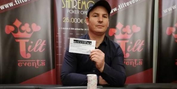 Sanremo Poker Open – Un deal accontenta tutti! Il trofeo va a Maffii, il ticket per il Millions a Cucaj