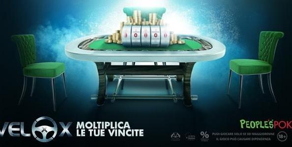 Moltiplicatore massimo su People's Poker: 'CandyCash' vince 96.000€ con un VeloX da 20€!