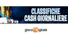 Classifiche giornaliere cash game su Gioco Digitale: 600€ in palio ogni 24 ore!
