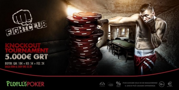 Pronti per il Fight Club? People's Poker lancia un nuovo garantito da 5mila euro in modalità KO