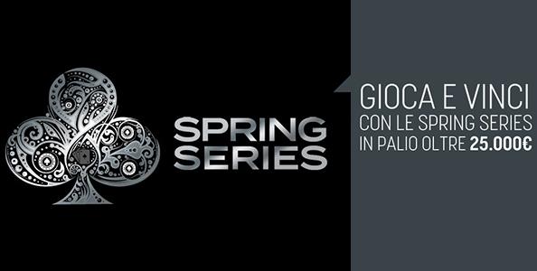 Su SNAI arrivano le Spring Series: 14 eventi low buy-in per 25.000€ di montepremi!