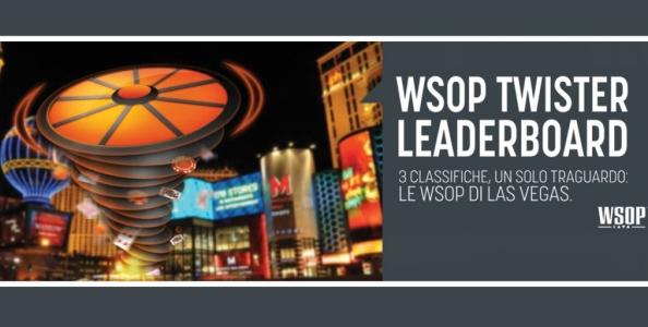 Vinci le WSOP con le Twister Leaderboard di Snai! I migliori nelle tre classifiche voleranno a Las Vegas