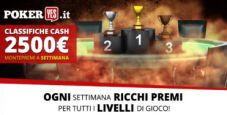 Nuove classifiche cash game su PokerYes: ogni settimana 2.500€ in palio!