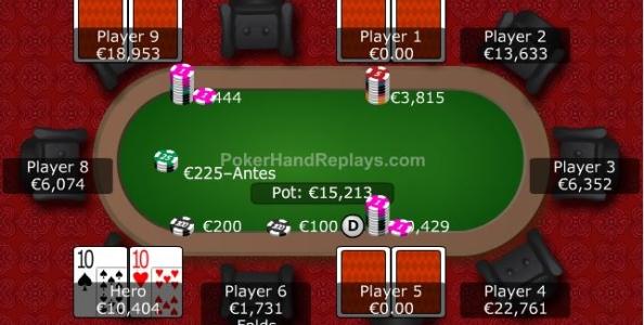 Punti di vista KO – Coppia di Dieci 50x su push 19x e repush di quasi paristack: si gioca per due taglie o è fold?
