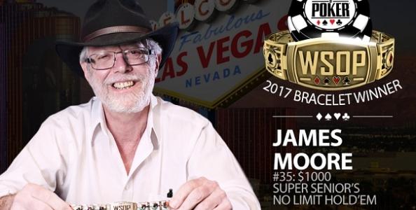 WSOP – James Moore centra un clamoroso back-to-back nel Super Seniors tra 1.720 iscritti!
