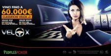 People's Poker rilancia sui VeloX: da lunedì 3mila euro in palio ogni settimana grazie alle classifiche