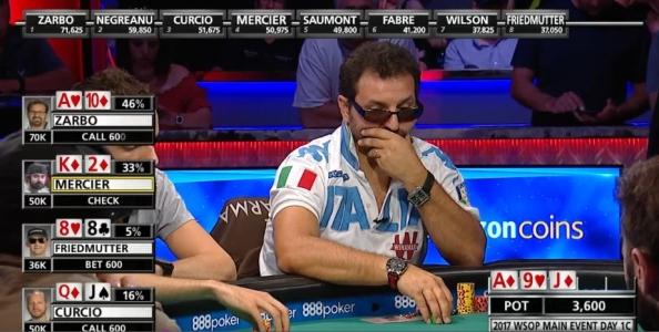 """""""Negreanu calling station, Mercier scorbutico!"""" Giuseppe Zarbo racconta la giornata al TV table del Main Event WSOP"""