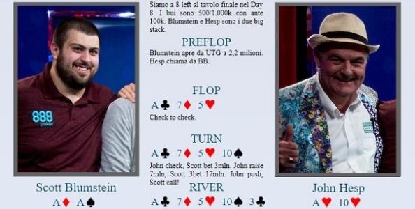 """Polk analizza il cooler tra Blumstein e Hesp al Main WSOP: """"Giocato male ma comunque imparabile"""""""