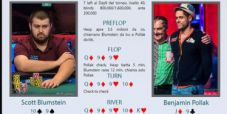 Main WSOP review: Pollak folda scala sulla bet river di Blumstein!