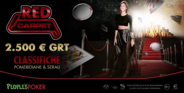 Su People's Poker tornano le classifiche mtt Red Carpet: in palio 10.000€ al mese!