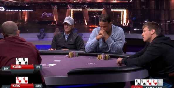 Matt Kirk scoppia gli assi a Bill Klein e vince un pot da $979,600 nel nuovo Poker After Dark!