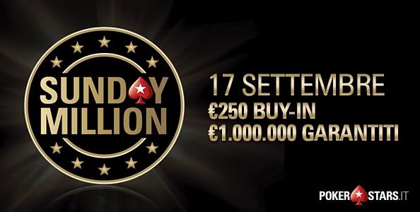 Partita la caccia ai ticket Sunday Million: ecco come puoi qualificarti su PokerStars anche GRATIS!