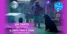 10€ in regalo e il 200% bonus sulla prima ricarica per i nuovi iscritti al Casinò di Gioco Digitale