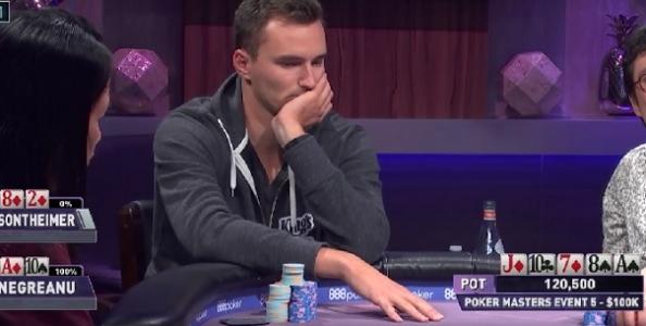 """Steffen Sontheimer domina nei Poker Masters! Holz l'aveva detto: """"È il più forte al mondo"""""""