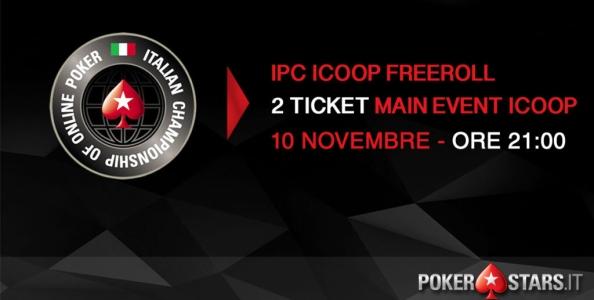 Vuoi giocare GRATIS il Main Event ICOOP? Partecipa al nostro Freeroll esclusivo: DUE TICKET in palio!