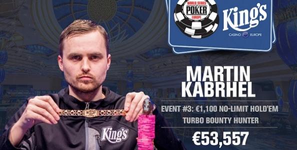 WSOP Europe – Salvatore Camarda chiude 3° nel Turbo Bounty Hunter! Braccialetti per Klatt e Kabrhel