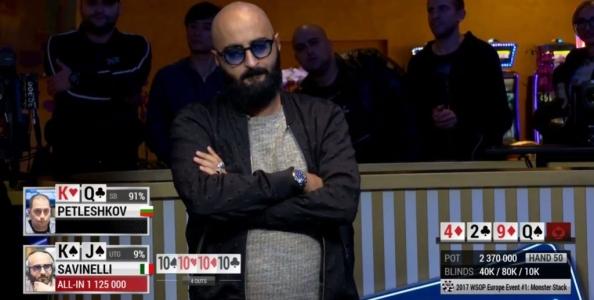 WSOP Europe – Savinelli e Treccarichi si arrendono al final table! Alioto a premio nel PLO