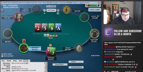 """'Tonkaaaap' sui live tell: """"Size e betting pattern più importanti, i tornei sono solo questione di fortuna!"""""""