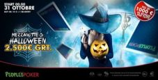 La mezzanotte di Halloween si festeggia su People's Poker con un torneo dove vincono tutti!