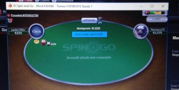 """Spin&Go Magico! 'Piermarco75' trasforma 1€ in 10.000€: """"Tremavo!"""""""