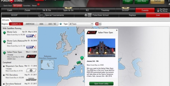 IPO sponsored by PokerStars: in lobby i satelliti online!
