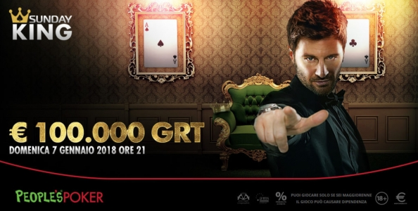 Sunday King 100.000€ People's Poker: freeroll anche il 31 dicembre!