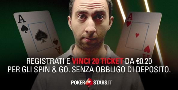 4€ Bonus senza deposito su PokerStars! Promo AUTOBLUFF