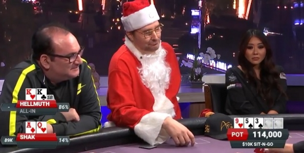 Holidays with Hellmuth – The Poker Brat domina la scena mostrando anche un paio di hero fold