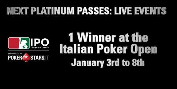 Parte la caccia al Platinum Pass di PokerStars: all'IPO di Campione scopriremo il primo vincitore!