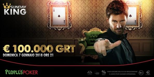People's mette 100.000€ in palio nel Sunday King il 7 gennaio! Parte la caccia al ticket