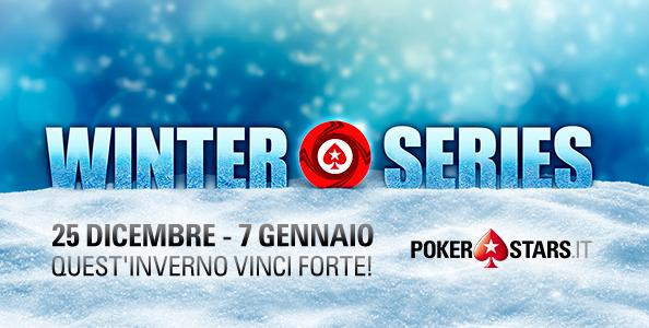 Winter Series su PokerStars: da Natale al 7 gennaio 30 eventi per 1.640.000€ garantiti!