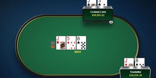 Cash Game High Stakes – 80.000$ di pot: 'LLinusLLove' su 'Trueteller'… again!