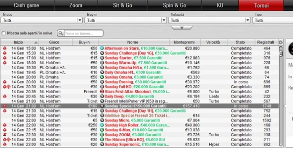 Domenicali PokerStars – ZioFinu' domina nel Sunday Special, Cirillo sfiora l'High Roller