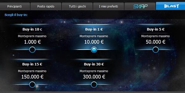 Sit&Go Blast su 888poker: vinci fino a 180.000€ in pochi minuti!