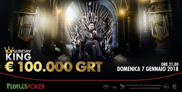 Continuano le qualifiche per il Sunday King del 7 gennaio: in palio 84 ticket solo domenica!