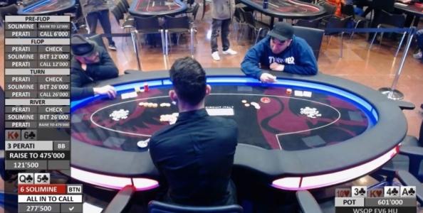 """WSOP Circuit Heads-up – Solimine folda second nut e fa autocritica: """"Stanchezza e pressione!"""""""