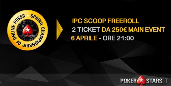 Vuoi giocare GRATIS il Main Event SCOOP? Due ticket in palio nel nostro freeroll esclusivo!