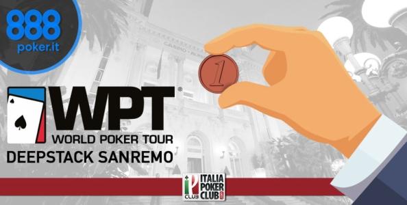 Vuoi partecipare al WPT DeepStack Sanremo con un cent? Gioca i satelliti su 888poker!