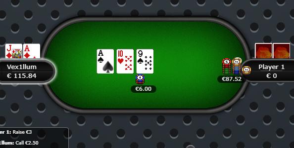 Punti di vista cash game HU – Top pair su overpush 15x pot al flop: call or fold?