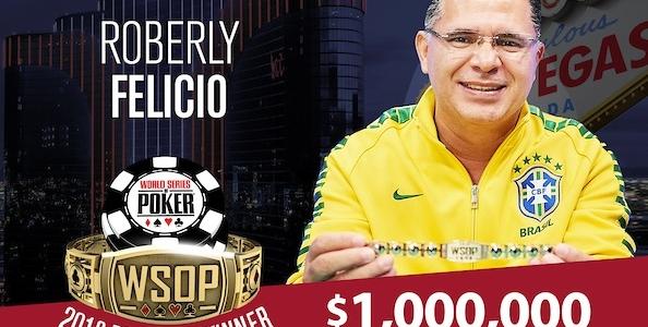WSOP – Roberly Felicio è il nuovo milionario del Colossus! Negreanu passa nel Dealers Choice