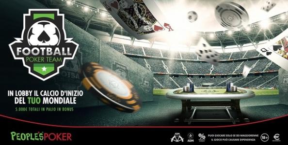 Football Poker Team mette in palio 5.000€ su People's dal 2 luglio: ecco i gironi in lobby