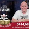 WSOP – Hennigan vince il suo quinto braccialetto! Esultano anche Tran e Addamo
