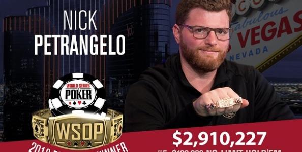 WSOP – Petrangelo vince il suo secondo braccialetto dopo un High Roller dominato