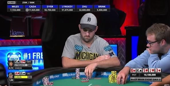 """WSOP – Joe Cada al final table del Main Event nove anni dopo: """"Sono stato corto per tutto il torneo"""""""