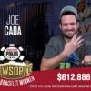 WSOP – Quarto braccialetto per Joe Cada che incassa 612.886$ nel The Closer! Palumbo chiude 48°
