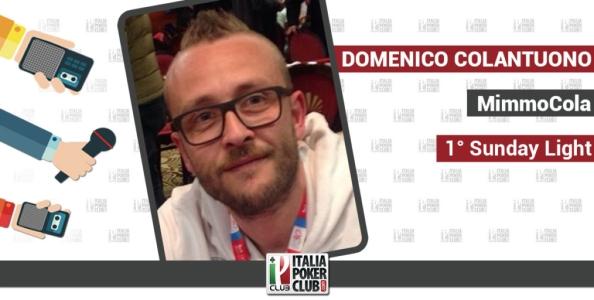 """La serata magica di Domenico Colantuono: """"Ho vinto il Sunday Light e sfiorato la tripletta"""""""